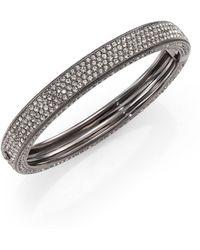 Adriana Orsini - Pave Crystal Four-row Bangle Bracelet - Lyst