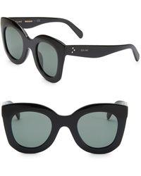 379877e8a829 Lyst - Céline Marta Round Sunglasses 41093s 807 Bn 46 in Black
