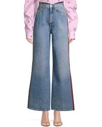 Tommy Hilfiger - Mixed Denim Wide Leg Jeans - Lyst
