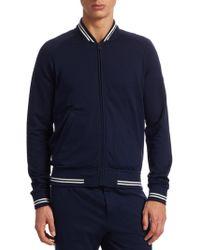Ralph Lauren Purple Label - Lux Fleece Varsity Track Jacket - Lyst