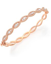 Roberto Coin - Barocco Diamond & 18k Rose Gold Braided Bangle Bracelet - Lyst