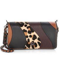 COACH - Patchwork Leopard Leather Crossbody Bag - Lyst