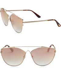 edf2befca23 Lyst - Tom Ford 0563 Jacquelyn Cat Eye Sunglasses in Metallic
