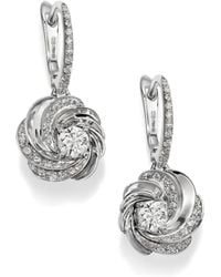 De Beers - Aria Diamond & 18k White Gold Sleeper Drop Earrings - Lyst