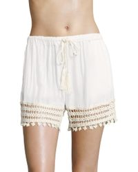 Anna Kosturova - Cairo Laced Shorts - Lyst