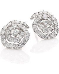 Hearts On Fire - Lorelei Diamond & 18k White Gold Floral Stud Earrings - Lyst