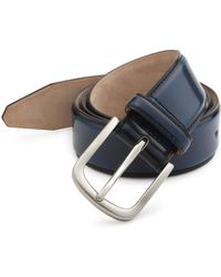Saks Fifth Avenue - Cordovan Leather Belt - Lyst