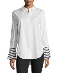 Equipment - Rossi Stripe Back Cotton Shirt - Lyst