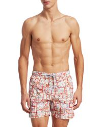 Saks Fifth Avenue | Collection Paisley Box Swim Trunks | Lyst