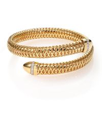 Roberto Coin - Primavera Diamond & 18k Yellow Gold Wrap Bracelet - Lyst
