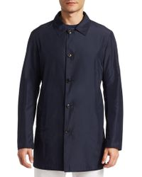 Saks Fifth Avenue - Collection Reversible Rain Coat - Lyst