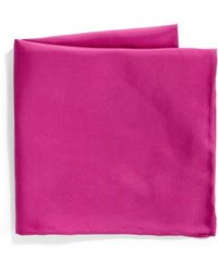 Saks Fifth Avenue - Silk Solid Pocket Square - Lyst