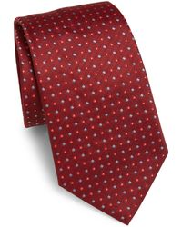 Armani - Intarsia Detailed Silk Tie - Lyst