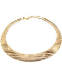 Kenneth Jay Lane   Graduated Snake-ribbed Collar Necklace   Lyst