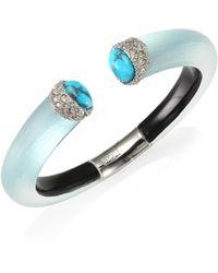 Alexis Bittar | Lucite Encrusted Double Stone Small Brake Hinge Bracelet | Lyst