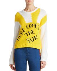 Alice + Olivia | X Beatles Leena Cropped Sweater | Lyst