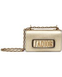Dior - Mini Metallic Leather J'a Flap Bag - Lyst