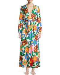 Mara Hoffman - Luna Floral Print V Neck Maxi Dress - Lyst