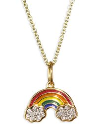Sydney Evan - Rainbow Diamond Pendant Necklace - Lyst