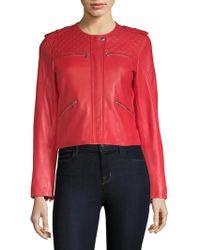 Generation Love - Michelle Leather Moto Jacket - Lyst