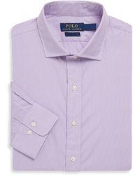 Polo Ralph Lauren - Striped Cotton Poplin Sportshirt - Lyst
