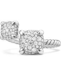 David Yurman - Chã¢telaine® Bypass Silver Diamond Ring - Lyst