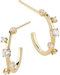 Lana Jewelry - Diamond & 14k Yellow Gold Hoop Earrings - Lyst