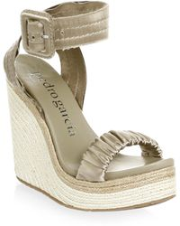 Pedro Garcia - Ruched Wedge Sandals - Lyst