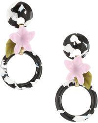 Lele Sadoughi - Small Hibiscus Hoop Earrings - Lyst