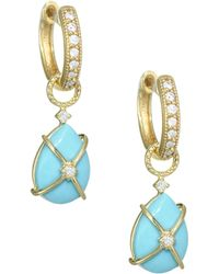 Jude Frances - Diamond, Turquoise & 18k Yellow Gold Earring Charms - Lyst