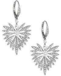 Adriana Orsini - Small Crystal Burst & Rhodium-plated Earrings - Lyst