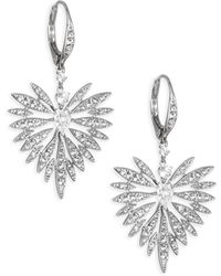 Adriana Orsini - Small Swarovski Crystal Burst Earrings - Lyst