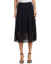 Akris Punto - Cotton Punto Lace Midi Skirt - Lyst