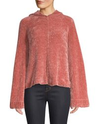 Alice + Olivia - Laticia Wide Cropped Hoodie - Lyst