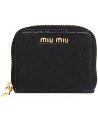 Miu Miu Madras Jewels Leather Buckle Clutch Bag in Black - Lyst 2008582ab207e