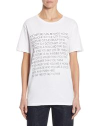 Each x Other - Graphic Cotton Tee - Lyst