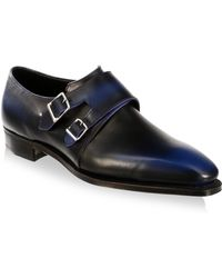 Corthay - Leather Almond Toe Monk Strap - Lyst