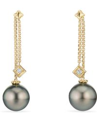 David Yurman - Solari Drop Earrings In 18k Gold With Diamonds - Lyst