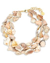 Nest - Pink Agate Statement Necklace - Lyst