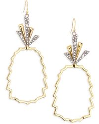 Alexis Bittar | Elements 10k Yellow Gold & Crystal Pineapple Earrings | Lyst