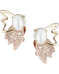 Alexis Bittar | 10k Gold Crystal Pearl & Petals Clip Earrings | Lyst