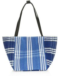 Elizabeth and James - Fortune Striped Woven Tote Bag - Lyst