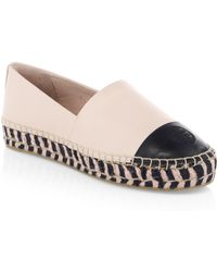 a5c5aeb1bf0ce6 Tory Burch - Colorblock Leather Platform Espadrilles - Lyst
