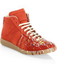 Maison Margiela - Paint Splatter Replica Sneakers - Lyst