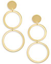 Lana Jewelry - Double Open Circle Earrings - Lyst