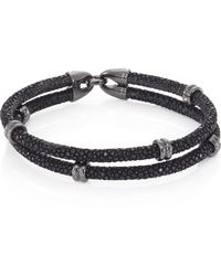 Stinghd - Blackened Silver & Stingray Wrap Bracelet - Lyst
