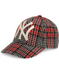 Lyst - Gucci Men s Houndstooth Baseball Cap With Ny Yankees Applique ... 97e26b468c2b