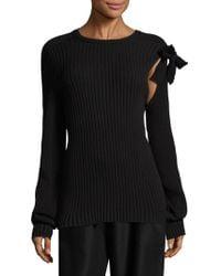 Sara Lanzi | Wool Tie Pullover | Lyst