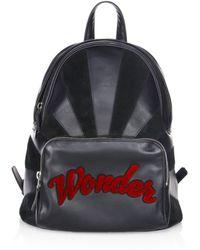 Les Petits Joueurs - Peter Wonder Leather & Suede Backpack - Lyst