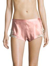 La Perla - Lace Trim Shorts - Lyst